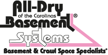 All Dry Basement Systems serving North Carolina, South Carolina & Georgia